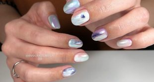Cosmic nails inspired by Alyona Yesterday was the cosmonaut day