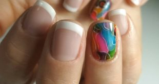 French Nails  Nail modeling shop Nailart colorink