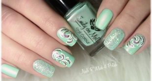 Soooo, here is a last picture of my spring nails with u.a. Pending pe