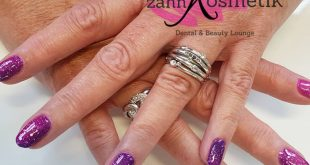 UV varnish manicure with thermal paint