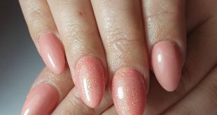 Beautiful fresh spring color with matching glitter