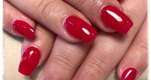 Line of new red nail