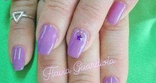Manicura con permanent. Decoration: piedras and 3D. , ,