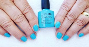 Manicure with Shellac in a super cool by CND in Aqua - intance