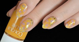 tender 3-02 stamping plate & # 39; on & # 39; Gold nail foil