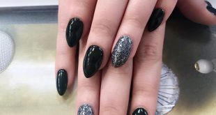 Black with glitters