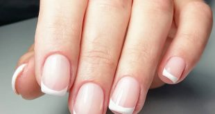 French is restraint and refinement. Strengthening natural nails with Acrigel,