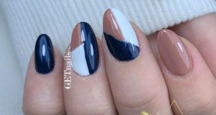 Blue with nail art - - -