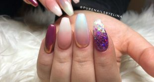Faded French x 2, one with Aurora Pigment Pink, & # 39; Burgundy Wine & # 39; with Aurora pigment