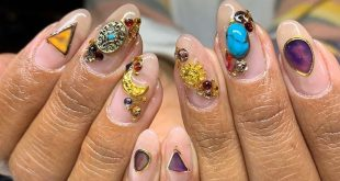 N A I L. ART , We love these gemstone nails from - what do you think? , ,