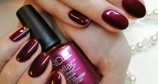 Wonderfully dark-faded autumn nails are created using Shellac