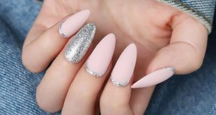"Glitter and matte pink, do you like this design?  Tap the bio link  search "" BOR"