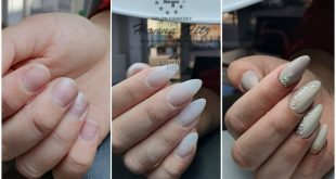 Nail extension on the form Styling for a wedding