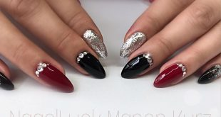 Black, silver and red with bling bling
