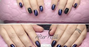Gel nails refilled after 3 weeks  One of the newest trends in nails, Bubble nail