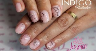 Mani mineral plus delicate decorations  Made by Patrycja