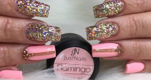 """Refill • Color gel """"Hola"""" and """"Flamingo"""" • Diamond dust stripes """"Red Gold"""" • Secre"""