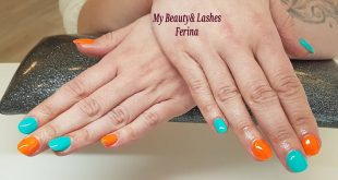 Summer candy in neon orange and turquoise?