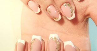Nevertheless, everyone associates spring with French manicure and gold pieces