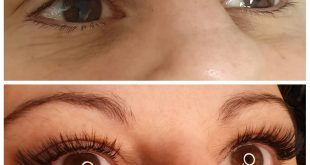 New set Mix lashes / volume light. Before and after