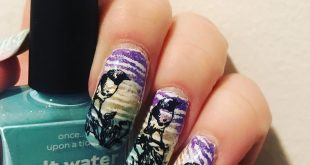 I decided try out double stamping . So here is bird mani . So many phases but I'