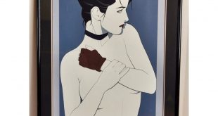 || S O L D || Patrick Nagel GLOVE GIRL Serigraph Silkscreen Poster . ~ Sixth in