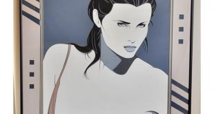 || S O L D || Patrick Nagel NC14 1987 Commemorative Serigraph Print  With a stun