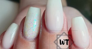 Ombre french and glitters for Andrea