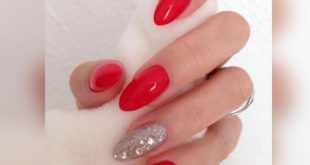Red nails .. and you're dressed!