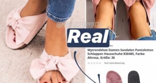 Display | Summer slippers with bows at real for € 10.90