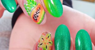 Green is the color of hope And I hope I can soon have beautiful colorful nails