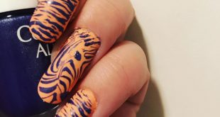 My Zebra mani for  hosted by  I used products peaches n'cream by  matte top  coa