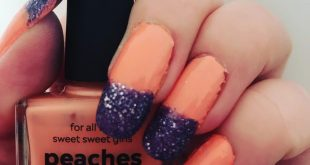 Peach and purple mani I used nailpolishes peaches n'cream by  and purple crush b