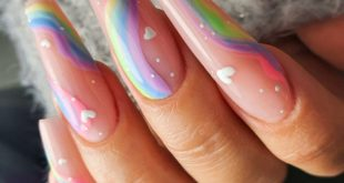 Rainbow nails. Hot or not? How are your ballerinas? Master classes this weekend