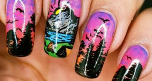 Sunset in the mountains (swipe for complete hand and matte finish)  These are f