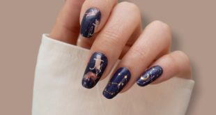 Designed with Space Cat Artify Nails.  Are you a cat or a dog?