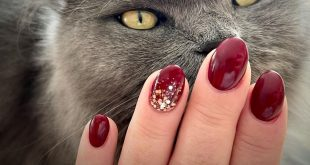 A nice, autumnal red for my nails