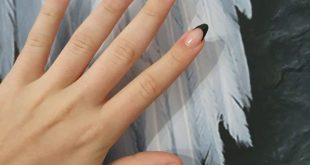 French nails in a completely different way with black ... mega great ... was so fun ...