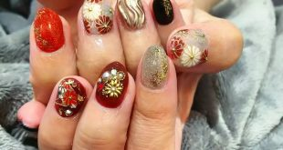 Nail for wedding kimono    But it feels good  Chip production ¥ 6900 (full art ok) is also available  90min ¥ 6600 (new) from separately