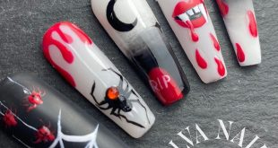 Scary Halloween  Creepy greetings to all nail fans  I let my imagination run wild